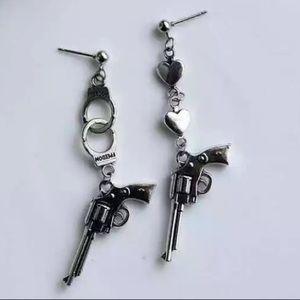 Cute gun earrings